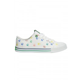 United Colors Of Benetton Beyaz Spor Ayakkabı