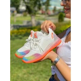 Gri, Lacivert Renk Bağcıklı Kadın Sneaker