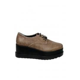 Kadın Deri Casual Ayakkabı Vizon