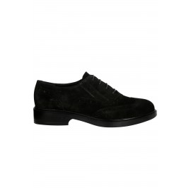 Kadın Hakiki İçi Dışı Deri Süet Casual Ayakkabı Siyah