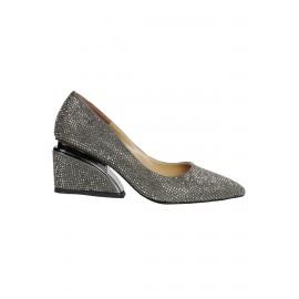 Kadın Taşlı Topuk Detaylı Topuklu Ayakkabı