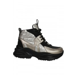 Kadın Hologram Çizgili Topuklu Ayakkabı
