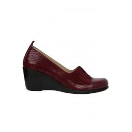 Kadın Bordo Hakiki Deri Dolgu Topuklu Ayakkabı
