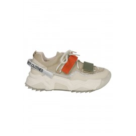Kadın Bağcık Detaylı Sneaker Beyaz Vizon