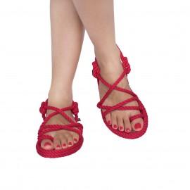 Bodrum Kadın Halat & İp Sandalet - Kırmızı ₺249,90 KDV Dahil