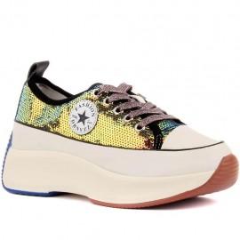 Gri Pullu Kadın Ayakkabı