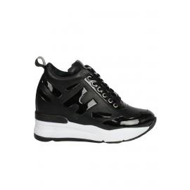 Kadın İçten Dolgulu Sneaker Siyah