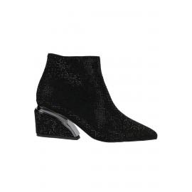 Kadın El İşçiliği Taşlı Ayakkabı Topuk Detaylı